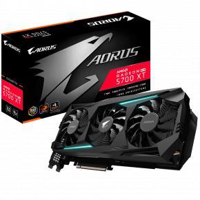 Image for product 'Gigabyte GV-R57XTAORUS-8GD AORUS Radeon RX 5700 XT 8G [8 GB, GDDR6, 256 bit, 448 GB/s, 600W]'