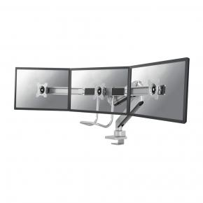 """Image for product 'Neomounts by Newstar NM-D775DX3SILVER flat screen desk mount, 17 - 27"""", 6 kg, 100x100 mm, clamp, Sil'"""