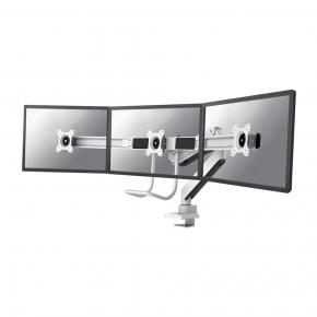 """Image for product 'Newstar NM-D775DX3WHITE Flat screen desk mount [Clamp, 6 kg 17 - 27"""", 100 x 100 mm, White]'"""
