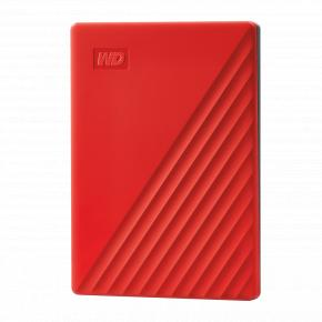 Image for product 'Western Digital WDBPKJ0040BRD-WESN My Passport External HDD [4TB, USB 3.2 Gen 1, Red]'