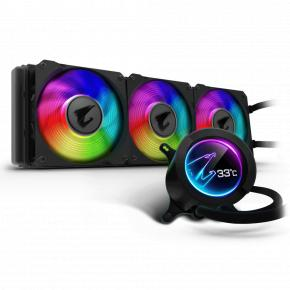 Image for product 'Gigabyte GP-AORUS LIQUID COOLER 360 All-in-one [Water cooler, Circular LCD Display, RGB Fusion 2]'