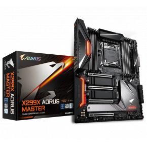 Image for product 'Gigabyte X299X AORUS MASTER [LGA2066, Intel X299X, 8x DIMM DDR4 2933 MHz, M.2, USB3.1 Gen2, WiFi]'