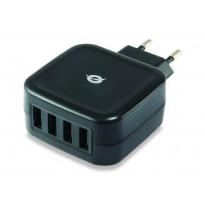 Image for product 'Conceptronic ALTHEA04B ALTHEA 4-Port USB Charger [25W, Indoor, AC, 5 V, Black]'