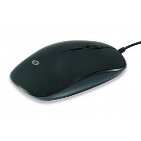Image for product 'Conceptronic REGAS01B Ambidextrous Optical Mouse [USB, 1200 DPI, Black]'