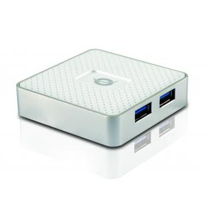 Image for product 'Conceptronic HUBBIES03W HUBBIES 4-Port USB 3.0 Hub w/ power adapter [USB3.2 Gen1 (3.1 Gen1) Type-A]'