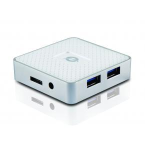 Image for product 'Conceptronic HUBBIES03WNP, HUBBIES 4-Port USB3.0 Hub [USB 3.2 Gen 1 Type-A, White]'