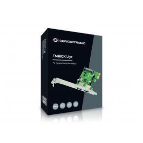 Image for product 'Conceptronic EMRICK01G EMRICK U32 PCIe Card [2-Port, 5 Gbps, USB 3.2 Gen 1]'