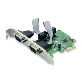 Image for product 'Conceptronic SRC01G PCIe Card [2-Port, PCIe 1.1, Serial RS-232, 2.5 Gbit/s, Green]'