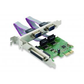 Image for product 'Conceptronic SPC01G Parallel & Serial PCIe card [PCIe 1.1, 2-Port serial RS-232, 2.5 Gbps, Green]'