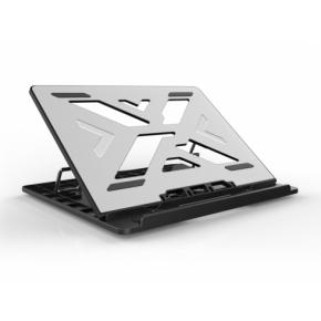 "Image for product 'Conceptronic THANA03G THANA ERGO S Laptop Cooling Stand [15.6"", 50kg max, Gray Aluminum Surface]'"