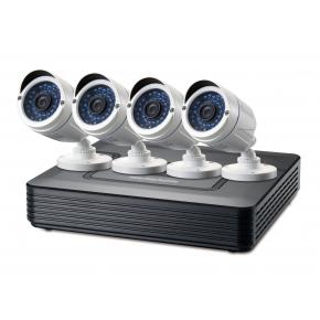 Image for product 'LevelOne DSK-4001 4-Channel CCTV Surveillance Kit [BNC, Wired, Bullet, Indoor/outdoor, 30 m]'