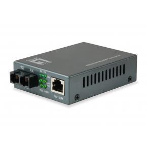 Image for product 'LevelOne FVT-1102 RJ45 to SC Fast Ethernet Media Converter [Single-Mode Fiber, 20km, 100 Mbit/s]'