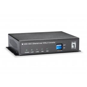 Image for product 'LevelOne VDS-1202 Ethernet over VDSL2 Converter, Annex B Weblink: [2x RJ-11, 10/ 100 Mbit/s, 1.5 km]'
