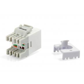 Image for product 'Equip 769213 Cat.6 Unshielded Keystone Jack [LSA, Slim Type, Flat, RJ-45, IDC, Female, Male, White]'