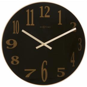 Image for product 'NeXtime 2472zw Smokey Mirror Glass [Ø43, Black/ Copper]'
