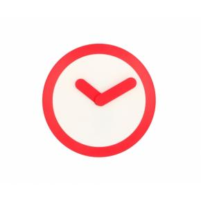 Image for product 'NeXtime 2615ro Focus [Ø25 cm, White/ Red]'