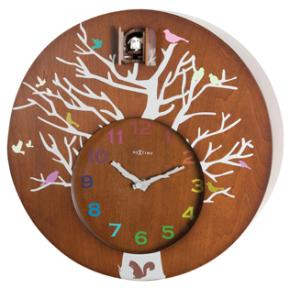 Image for product 'NeXtime 2998br Cuckoo Round [30x10 cm, Brown]'