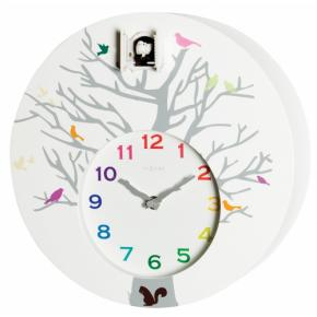 Image for product 'NeXtime klok 2998wi Cuckoo Round, 30x10 cm, Wall, White'