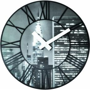 Image for product 'NeXtime 3005 The City [Ø39 cm, Black]'