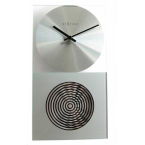 Image for product 'NeXtime 3028 OP Clock [16x30.2 cm, Glass, Silver]'