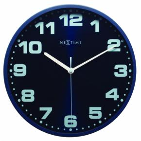 Image for product 'NeXtime 3053bl Dash Blue [Ø 35 cm, Blue]'