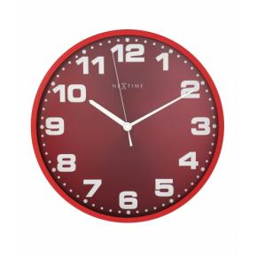 Image for product 'NeXtime 3053ro Dash Red [Ø35 cm, Red/ Silver]'