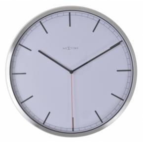 Image for product 'NeXtime klok 3071wi Company - stripe, Ø35 cm, Wall, White'
