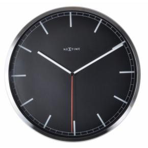 Image for product 'NeXtime klok 3071zw Company - stripe, Ø35 cm, Wall, Black'