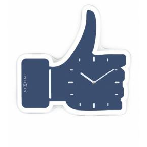 Image for product 'NeXtime 3072bl Thumbs up [40.5x41.5 cm, Blue/ Silver]'