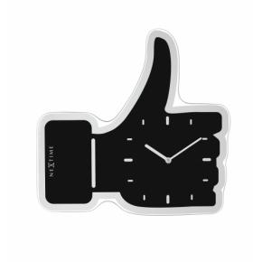 Image for product 'NeXtime 3072zw Thumbs up [40.5x41.cm, Black/ Silver]'