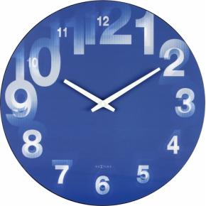Image for product 'NeXtime 3077bl 3D [Ø39.5 cm, Blue/ White]'