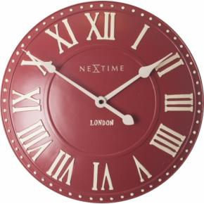 Image for product 'NeXtime 3083ro London Roman [Ø34.5 cm, Red/ White]'
