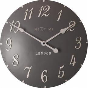 Image for product 'NeXtime 3084gs London Arabic [Ø34.5cm, Gray/ White]'