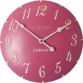 Image for product 'NeXtime 3084rz London Arabic [Ø34.5 cm, Pink/ White]'