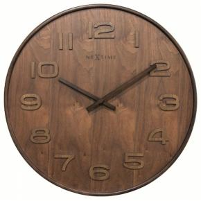 Image for product 'NeXtime 3095br Wood Wood Big [Ø52.8 cm, Brown]'