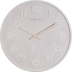 Image for product 'NeXtime 3096wi Wood Wood Medium [Ø35.5 cm, White]'