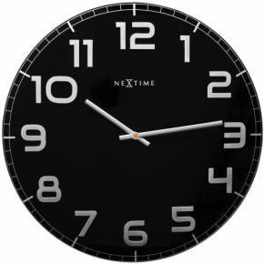 Image for product 'NeXtime klok 3105zw Classy Large Ø50 cm, Wall, Black/ Gray'