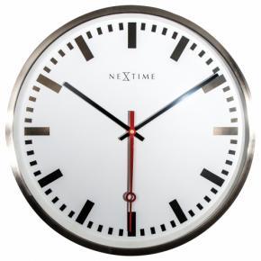 Image for product 'NeXtime 3127st Super Station Stripe [Ø55 cm, White]'