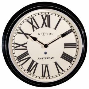 Image for product 'NeXtime 3129zw Amsterdam [Ø40,4 cm, Black]'