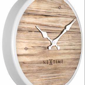 Image for product 'NeXtime 3133wi Plank [Ø30 cm, White]'