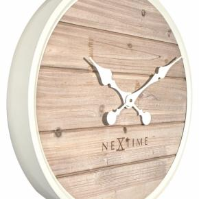 Image for product 'NeXtime 3134wi Plank [Ø50 cm, White]'
