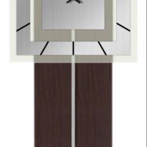 Image for product 'NeXtime 3144 Retro Pendulum Square RC [80x32 cm, Matt White]'