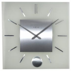 Image for product 'NeXtime 3146 Stripe Pendulum Square [40x40 cm, Matt White]'