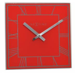 Image for product 'NeXtime 5184ro Square Roman [20x20.2 cm, Red/ Silver]'