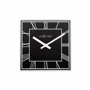 Image for product 'NeXtime klok 5184zw Square Roman, 20x20 cm, Wall, Black/Silver'