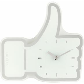 Image for product 'NeXtime 5185wi Mini Thumbs Up [20.5x21 cm, White/ Silver]'