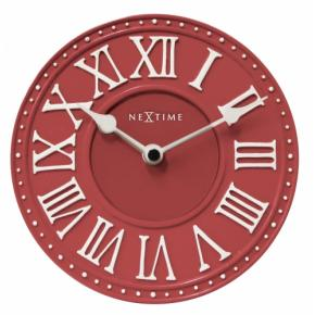 Image for product 'NeXtime 5187ro London Table [Ø16 cm, Red/ White]'
