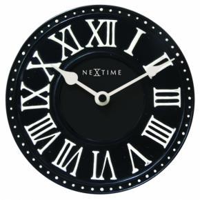 Image for product 'NeXtime klok 5187zw London Table, Ø16 cm, Wall, Black/ White'
