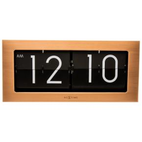 Image for product 'NeXtime 5198co Big Flip [16,7x36 cm, Flip-over, Copper/ Black]'