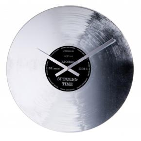 Image for product 'NeXtime 8117 Silver Record [Ø43 cm, Silver glossy]'
